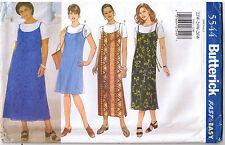 Easy Spaghetti Strap Jumper Dress A Line Waist Ties Sewing Pattern Plus 22 24 26