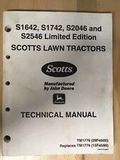 JOHN DEERE/SCOTTS TECHNICAL MANUAL, TM1776, (29Feb2000)