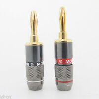 1 pair Monster Speaker Cable Wire 4mm Banana Plug Audio Connector Gold Plated