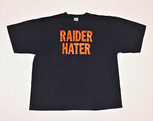 Denver Broncos NFL Football 'Raider Hater' Smack Talk Rivalry Shirt Size Men XXL