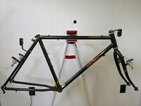 1986 Raleigh Seneca steel mountain bike frame fork Dia-Compe brakes 19in