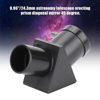 "0.96"" Telescope Refractor Erecting Prism Eyepiece Diagonal Mirror 45 Degree LJ"