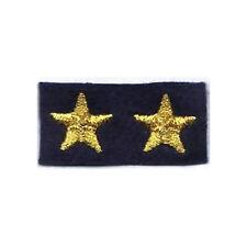 [Militaria] Coppia Stelle ricamate - Stellette oro su fondo blu navy - mm 15