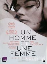 UN HOMME ET UNE FEMME - A MAN AND A WOMAN - LELOUCH - REISSUE SMALL MOVIE POSTER