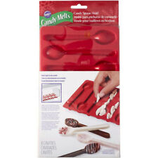 Wilton 8 Spoon Silicone Tray Mould for Edible Chocolate Candy Dessert Decorating