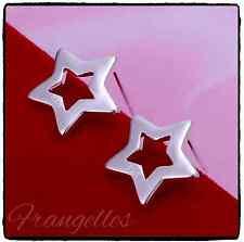 925 Sterling Silver Open Star Butterfly Stud Earrings Gift