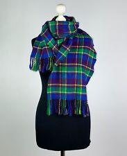 100% PURE CASHMERE Scarf MADE IN SCOTLAND Multicolored Checkered Unisex