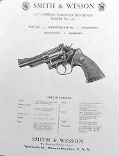 Smith & Wesson Model 19 Combat Magnum Rev Instructions
