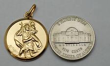 10K solid gold 20.3 mm  large Saint Christopher medal / pendant
