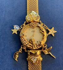 Vtg KIRKS FOLLY Watch DREAM BELIVE Angel Fairy Charms Watch Needs Battery