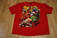 Marvel SUPERHEROES T-Shirt Tee Men's Size 2XL Mad Engine Avengers Wolverine Red