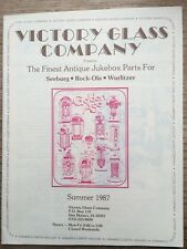 """Victory Glass Company Summer 1987 """"New"""" Plastic Protective Cover"""