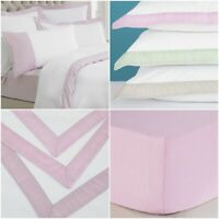 LUXURY HOTEL QUALITY DUVET COVER/ FITTED SHEET SINGLE DOUBLE KING BEDDING SET