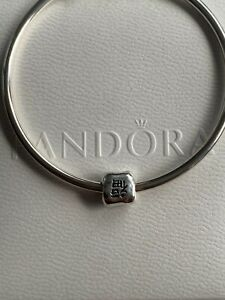 Genuine Pandora Chinese Character Letter Happiness Charm ALE 925 #790194
