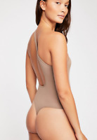 NEW Free People Intimately Seamless No Excuse Bodysuit Sand XS/S -M/L $72.54