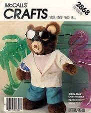 1980's VTG McCall's Cool Bear and Clothes Pattern 2868