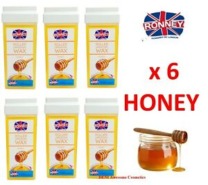ROLL-ON Hot Wax Roller Cartridge Hair Removal Depilatory 100ml X6 Waxing Honey