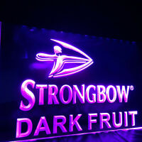 Strongbow Dark Fruit Neon Sign 40x30cm Bar Pub Man Cave Etc UK STOCK