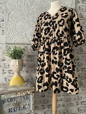 F&F - Size 20 / 22 BNWT Funky & Flattering Leopard Print V Neck Skater Dress