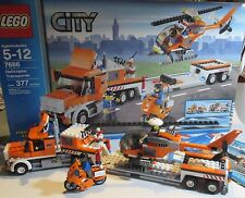 Lego City #7686 Helicopter Transporter 100% Complete, incl box & instructions