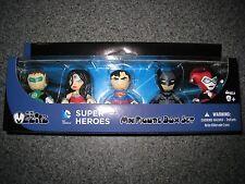 NIB MINI MEZITZ SUPER HEROES MINI FIGURE BOX SET GREEN LANTERN WONDER WOMAN BATM