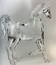 HORSE Figurine Crystal Glass