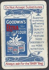 Swap Playing Vintage Card GOODWIN'S EXTRA Self Raising Flour OLD WIDE