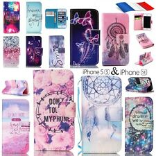 !! DESTOCKAGE !! Etui coque housse Porte cartes Wallet Case Cover iphone 5 5s se