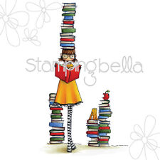 UPTOWN GIRL BETTY LOVES BOOKS-Stamping Bella Cling Rubber Stamp-Craft-Cardmaking