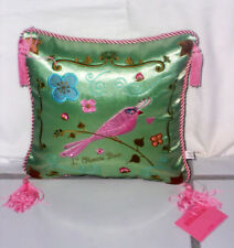 Fluff Beautiful Embroidered Pillow Nice Design  & Color Excellent condition