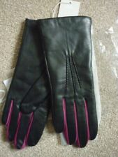 BODEN LEATHER GLOVES. BUTTER- SOFT NAPPA LEATHER. BLACK & VIBRANT PLUM. BNWT £60