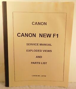 Canon New F1 Service Manual & Parts List