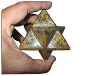 "Jet Rare New Natural Orbicular Fossil Jasper Large 2"" Merkaba Gemstone Huge"
