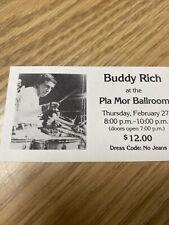 Buddy Rich-1986 Rare Unused Concert Ticket (Lincoln-Pla Mor Ballroom)