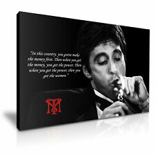 Tony Montana Canvas Wall Art Picture Print ~ VARIOUS SIZES