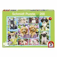Schmidt Spiele Welpen Kinderpuzzle Standard 200 Teile Hunde Puzzle 56162