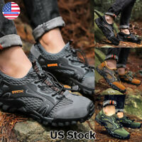 Men's Breathable Outdoor Climbing Water Shoes Hiking Non-slip Waterproof Mesh US