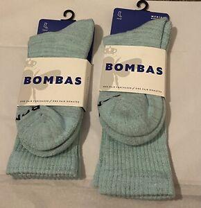 Brand New 2 Women's Bombas Calf Socks Sz Medium 8-10.5 $24 Value 2 Pairs