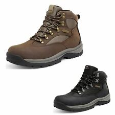 Mens 24H Outdoor Waterproof Trekking Shoes Mid Ankle Combat Hiking Boots for Men