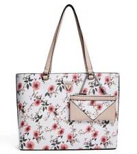 GUESS Women's Circlewood Floral Large Travel Shopper Tote Bag Handbag