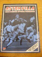 19/09/1973 Aston Villa v Fulham (pliegue luz, cambios de equipo). artículo parece B
