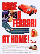 VINTAGE 1960'S REVELL FERRARI TOY SLOT CAR ADVERTISING A3 POSTER REPRINT