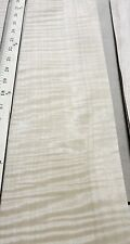 """Anigre Figured Quilted wood veneer 6"""" x 22"""" raw no backing 1/42"""" thickness AAA"""