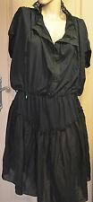 luxueuse robe noire col en dentelles HIGH USE ex M&FG taille M  NEUVE ÉTIQUETTE