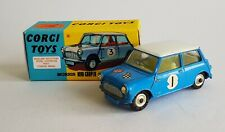 Corgi Toys 227 Morris Mini Cooper Competition Model No. 1, - Superb Condition.