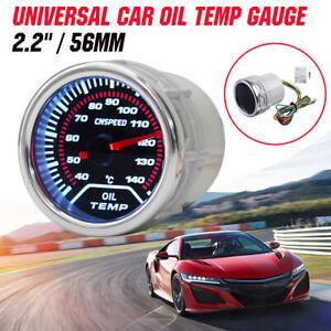 2'' 52mm Universal Car LED Pointer Oil Temp Temperature 40-140 Gauge Meter