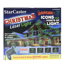 Starcaster Laser Projector Red/Green Rotating Paterns Christmas Holiday Icons