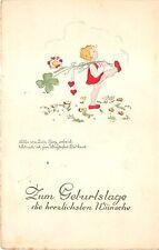 BG14604 geburtstag birthday girl clover heart   germany