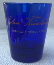 Souvenir John Steinbeck National Steinbeck Center Blue Shot Glass Museum