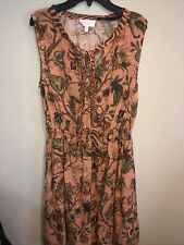 House Of Hackney & Other Stories Colab Floral Sleeveless Dress Linen Blend Sz 8